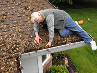 Cleaning roofs and gutters can be a dangerous time consuming job
